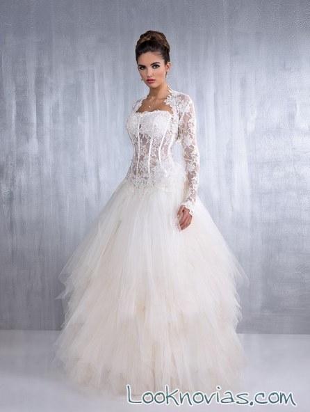 vestido de novia original con corpiño