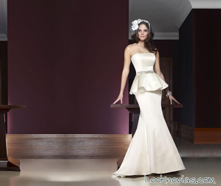 vestido de novia peplum glamour