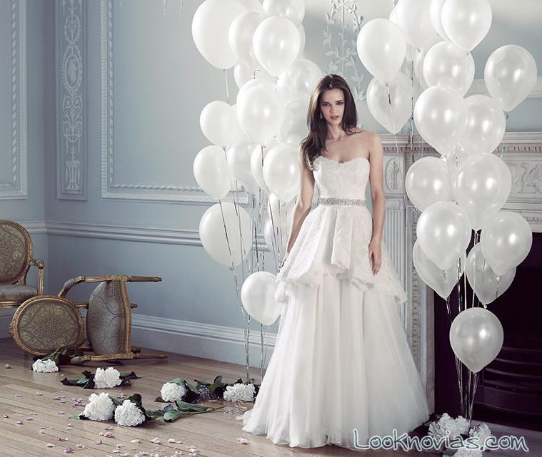 vestido de novia peplum