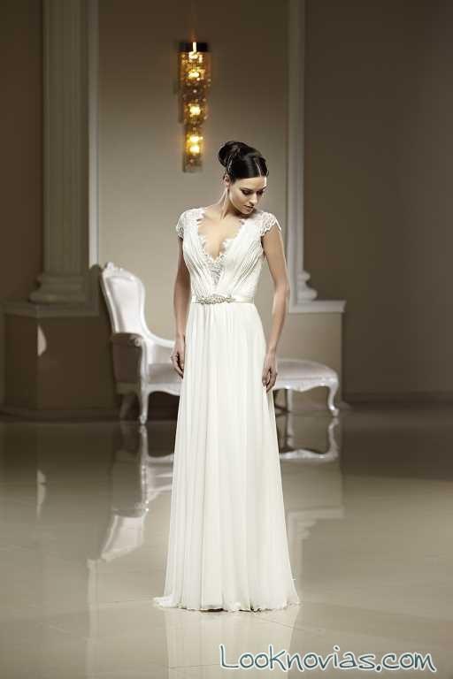 vestido de novia plisado de madam burcu