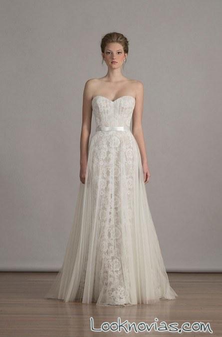 vestido de novia plisado liancarlo