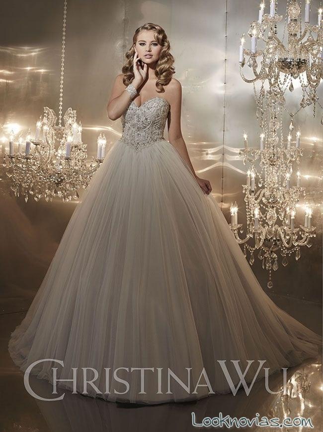 vestido de novia princesa por christina wu
