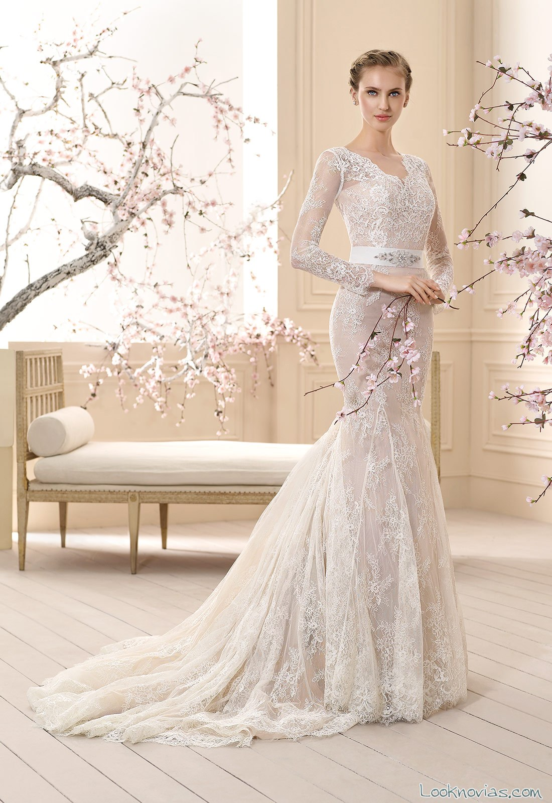 vestido de novia recto cabotine