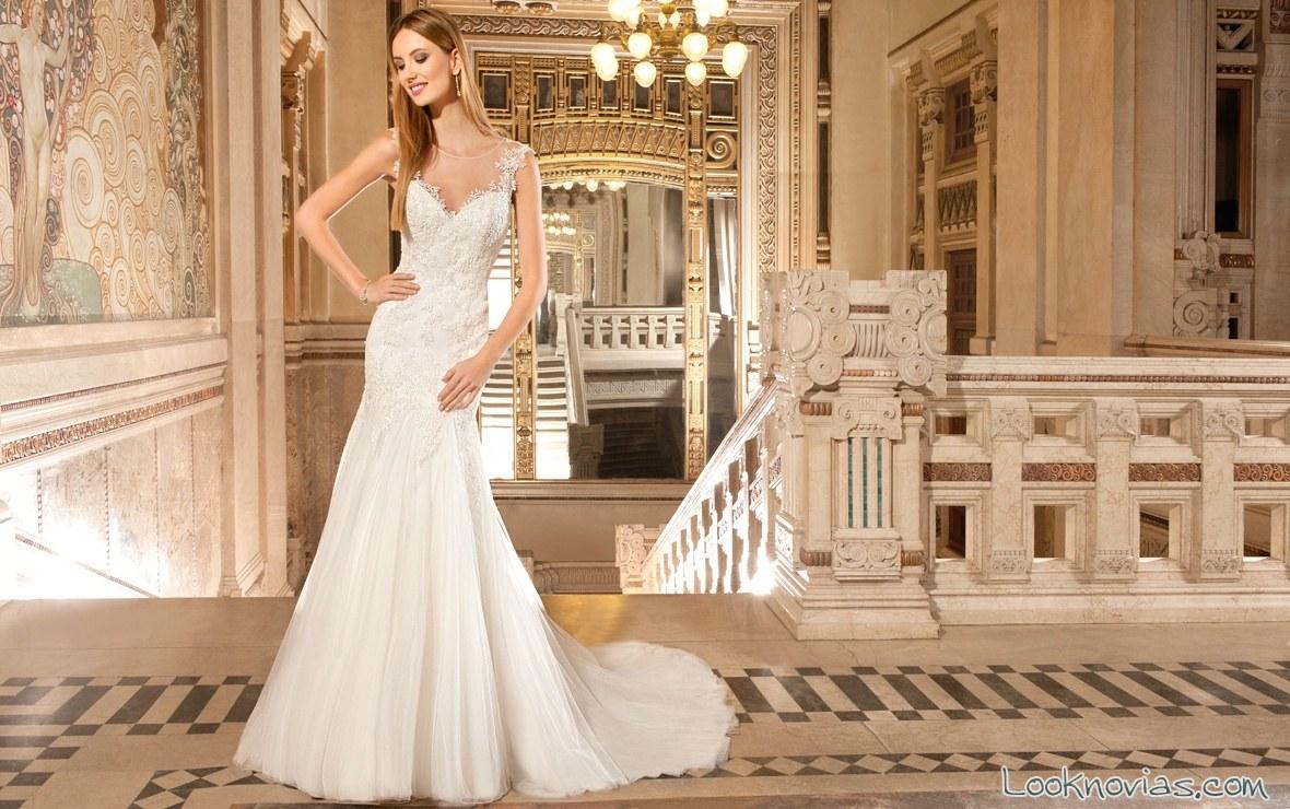 vestido de novia recto de demetrios