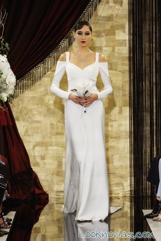 vestido de novia recto de theia