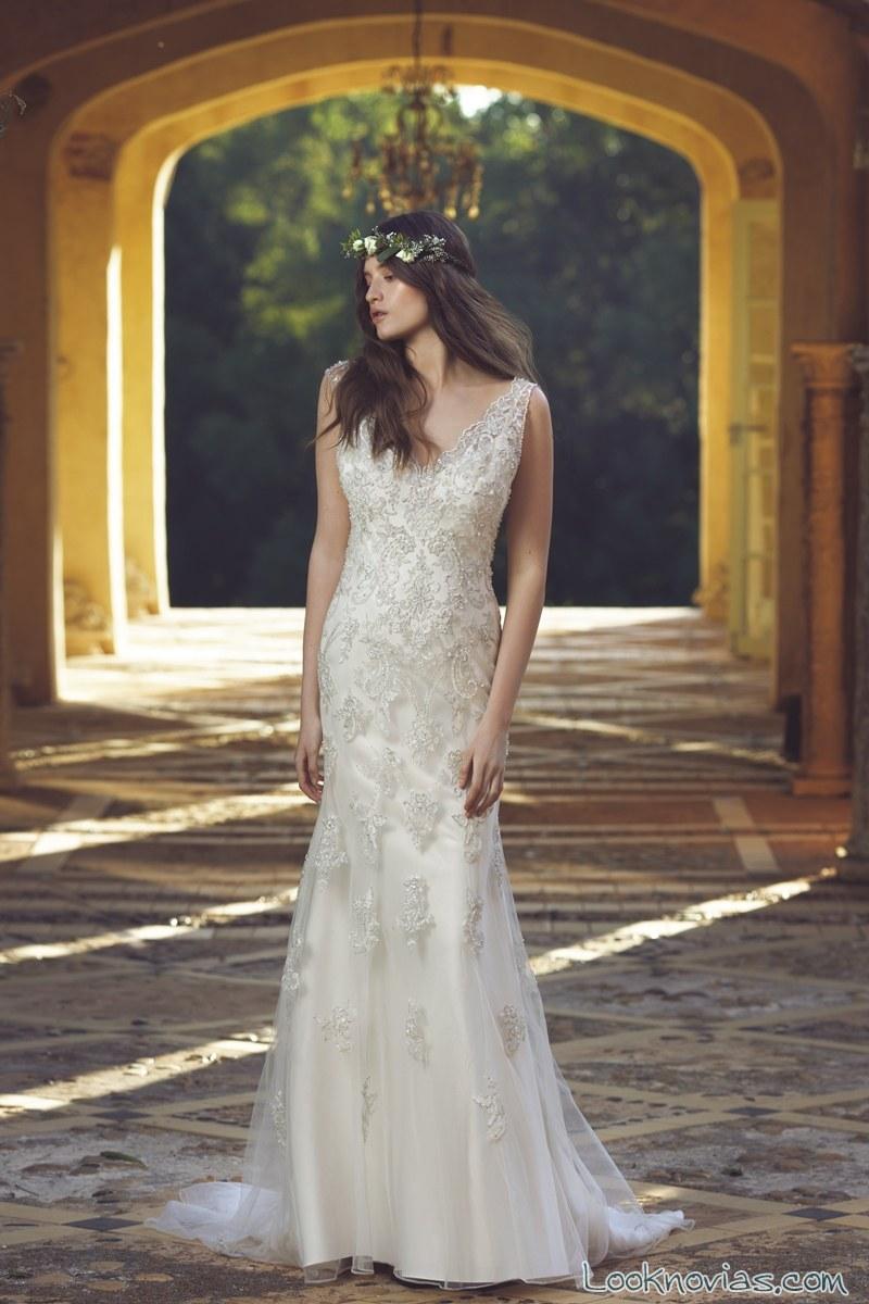 vestido de novia recto por mia solano