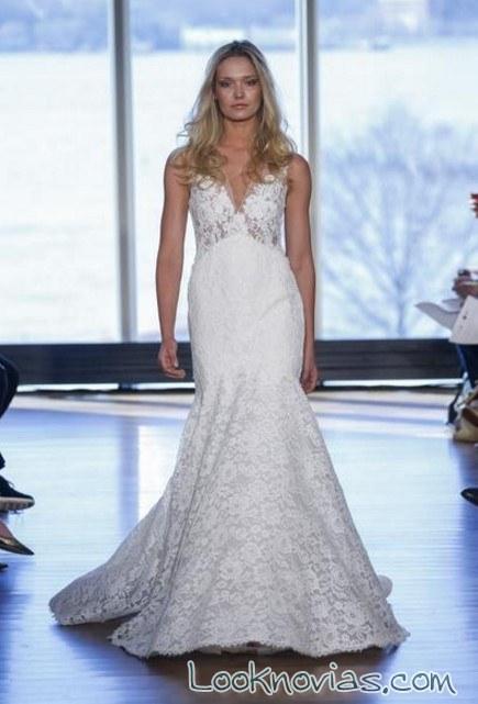 vestido de novia recto y sencillo de rivini