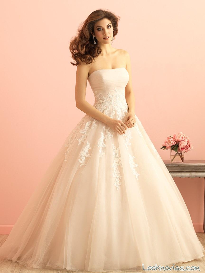 vestido de novia rosa allure bridals