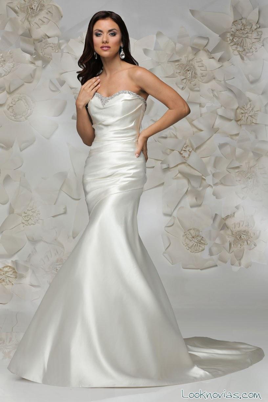 vestido de novia satinado cristiano lucci