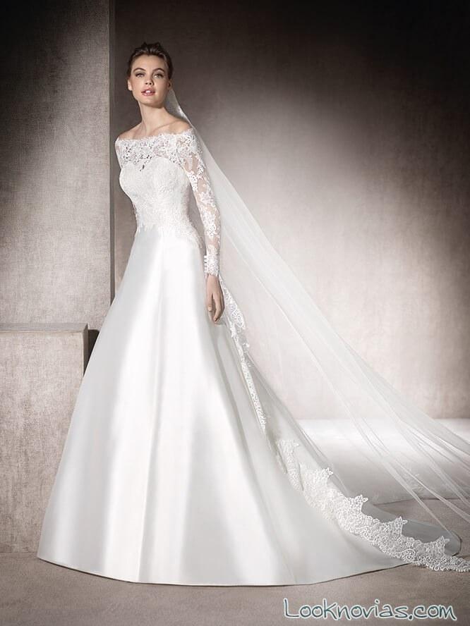 vestido de novia satinado san patrick