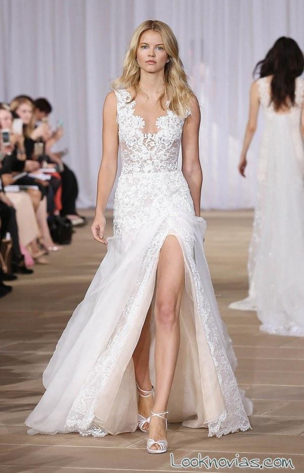 vestido de novia sexy con aberturas
