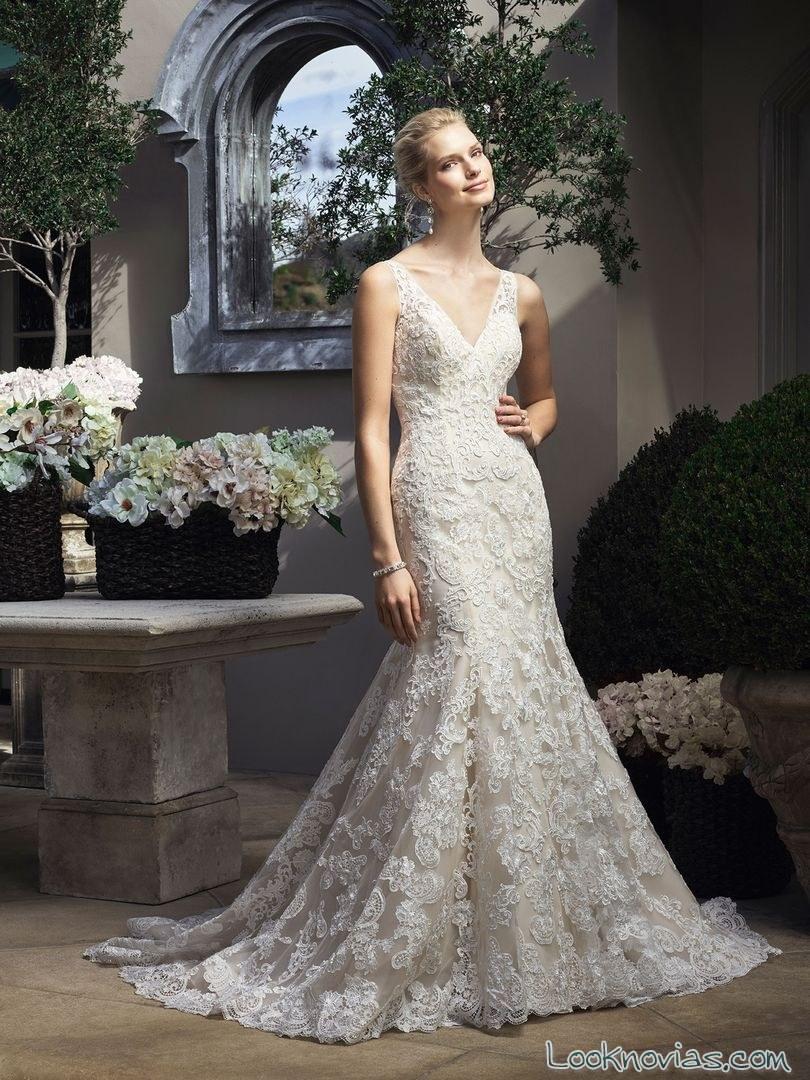 vestido de novia sirena con bordados casablancabridal