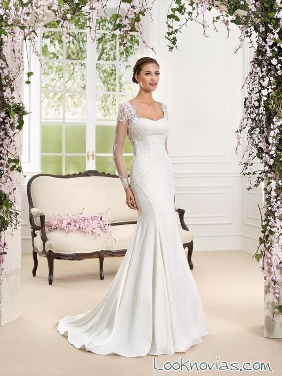 vestido de novia sirena con mangas