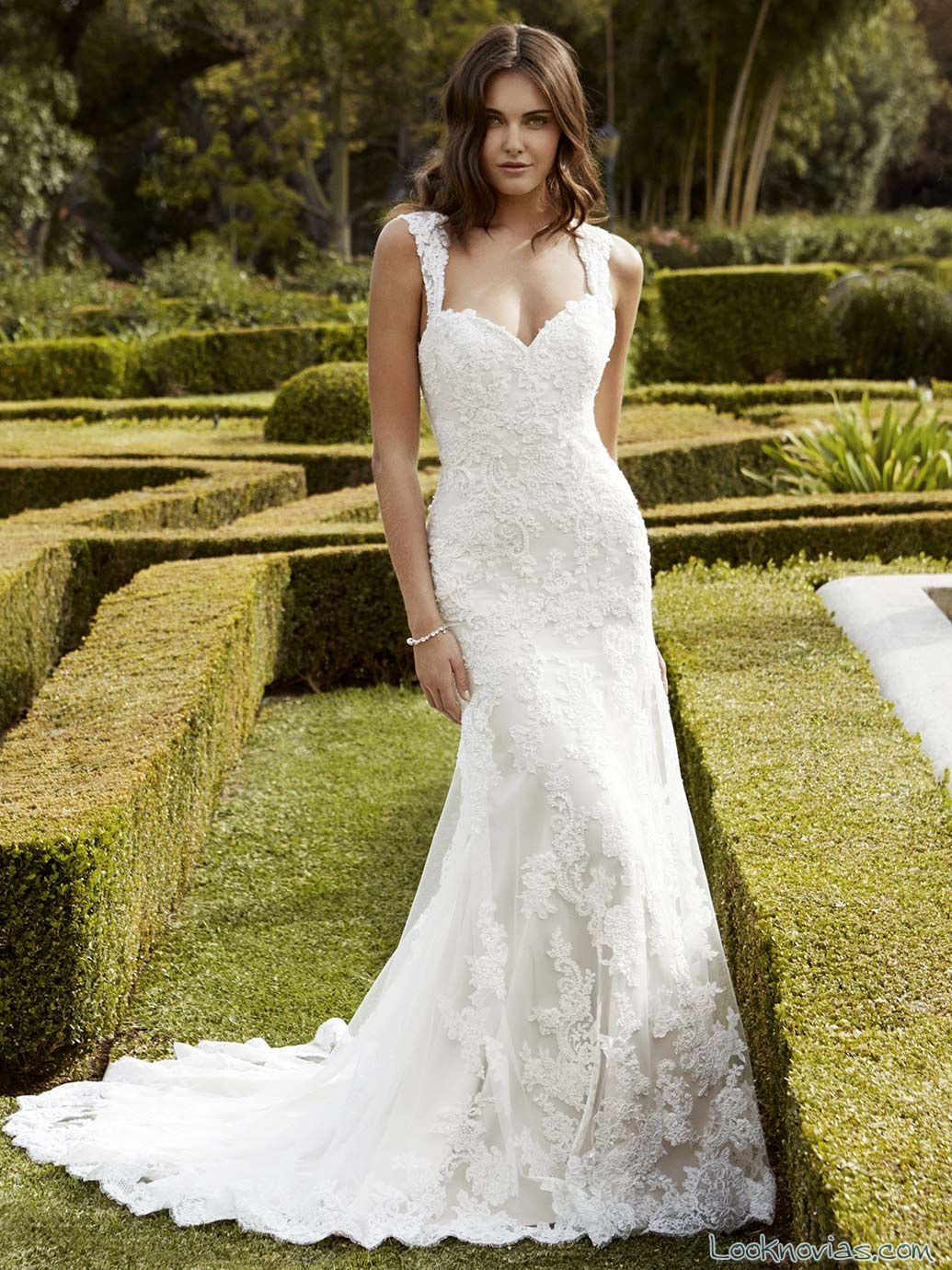 vestido de novia sirena con tirantes enzoani