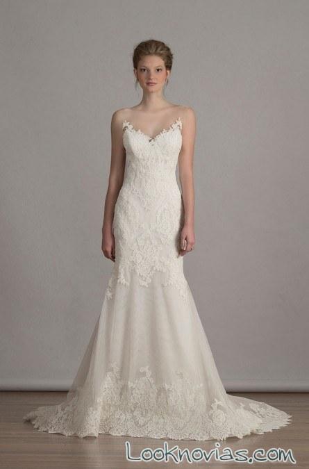 vestido de novia sirena con volumen