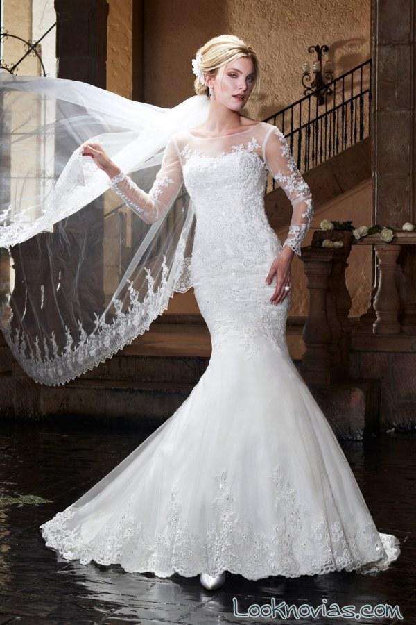 vestido de novia sirena de mary´s bridal