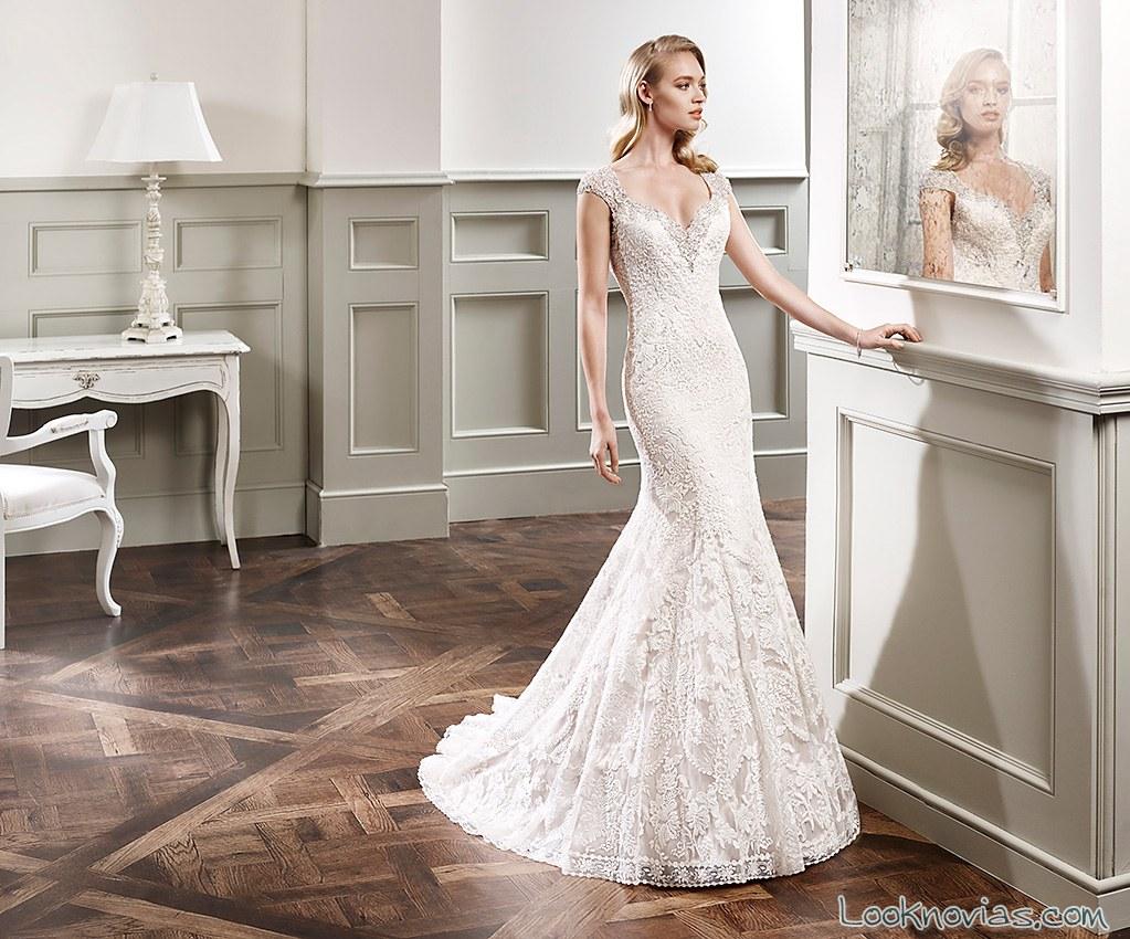 vestido de novia sirena eddy k 2016