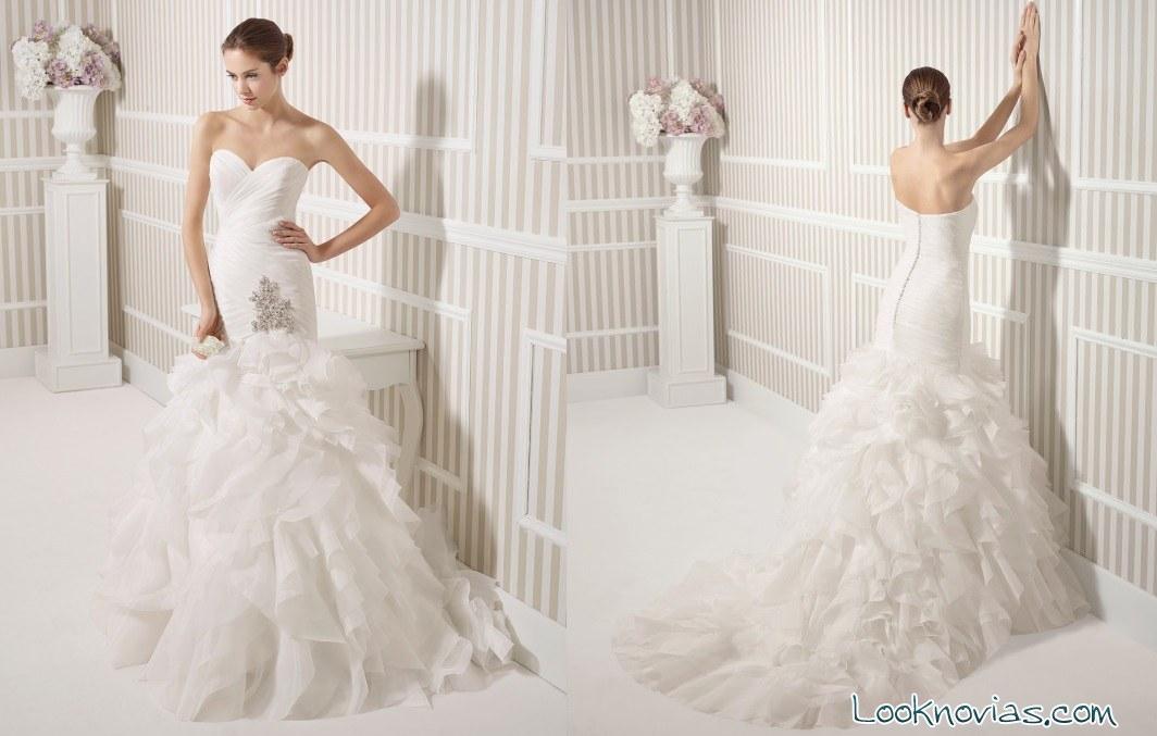 vestido de novia sirena Luna Novias