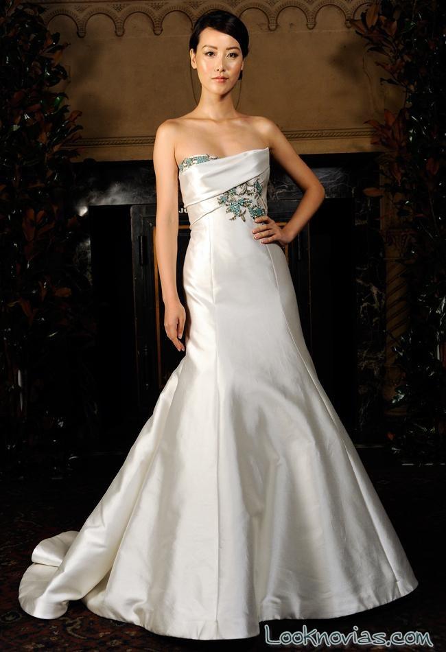 vestido de novia sirena por austin scarlett