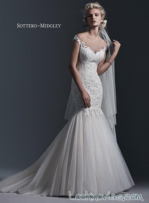 vestido de novia sirena sottero y midgley
