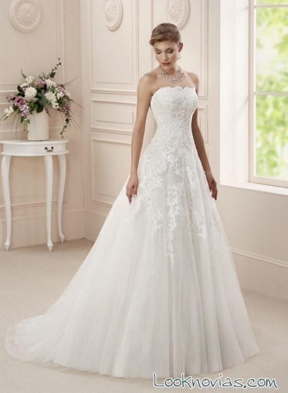 vestido de novia strapless affezione