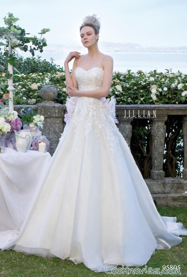 vestido de novia strapless jillian