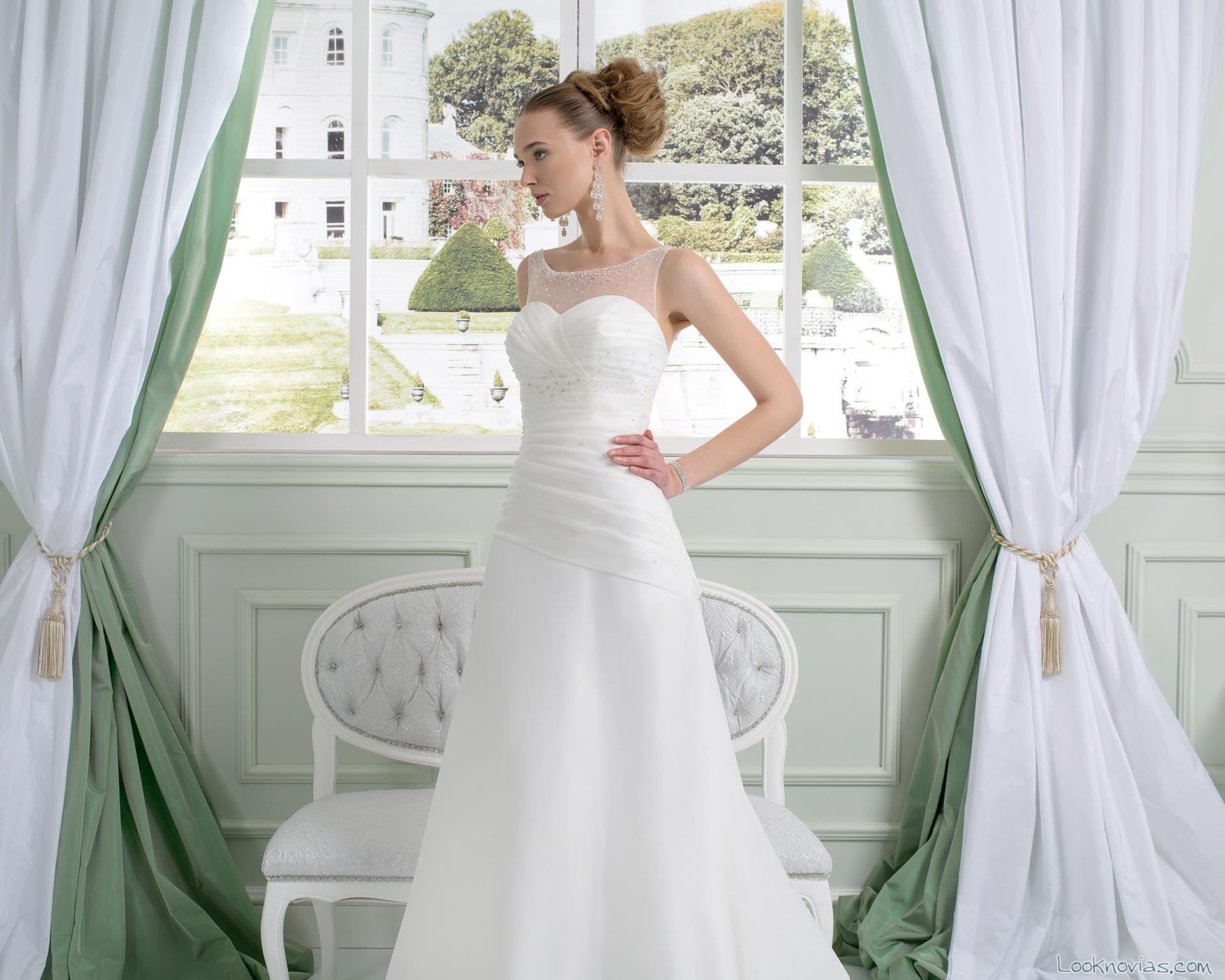 vestido de novia strapless toi spose