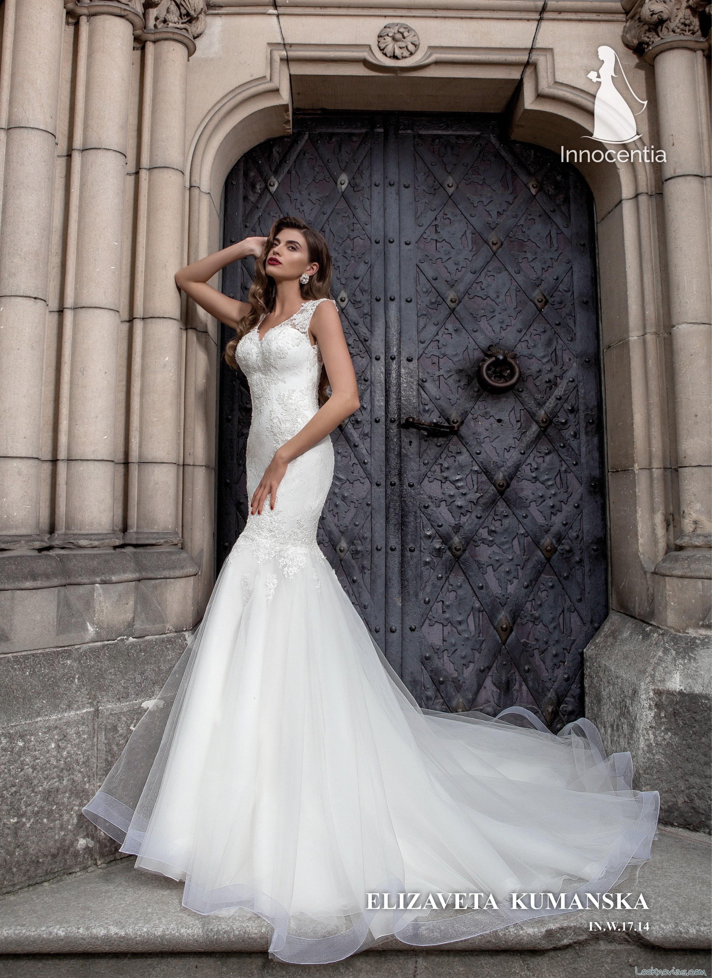 vestido de novia tirantes recto innocentia
