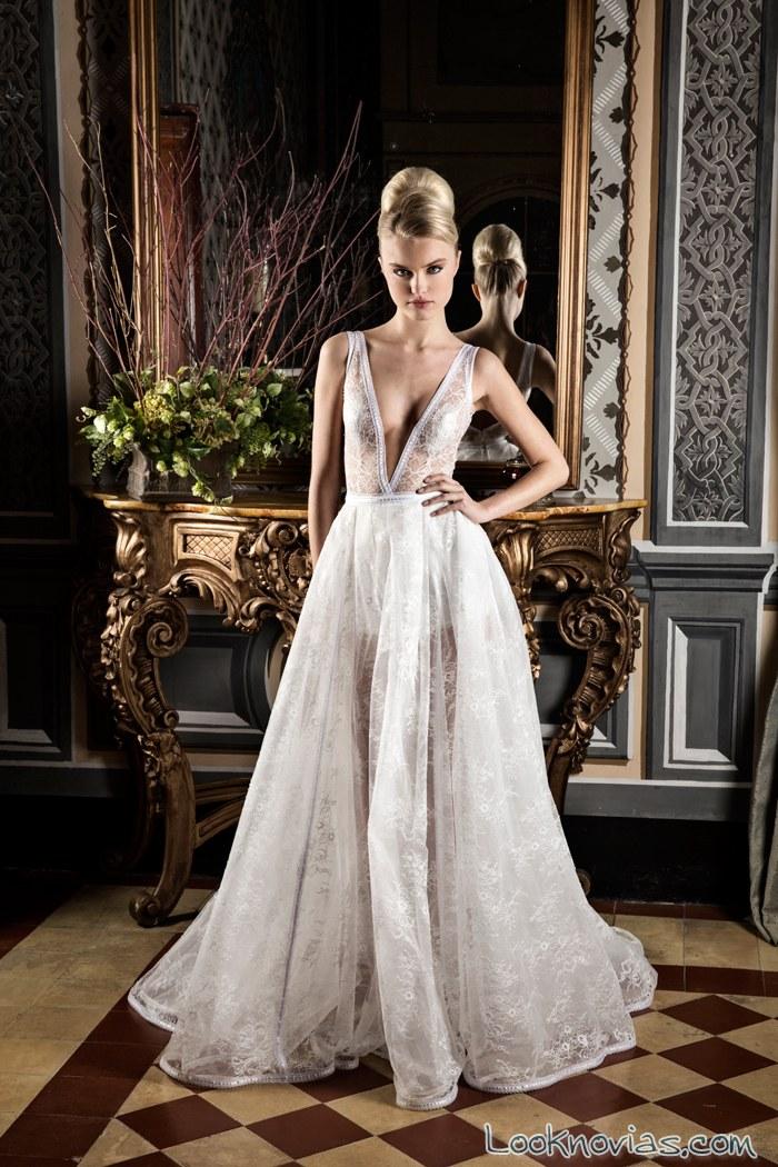 vestido de novia transparente de jordi dalmau