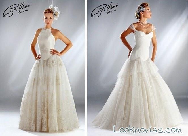 vestido de novia volumen petro valverde