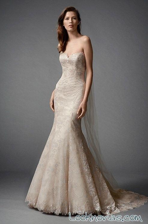 vestido de novia watters en color