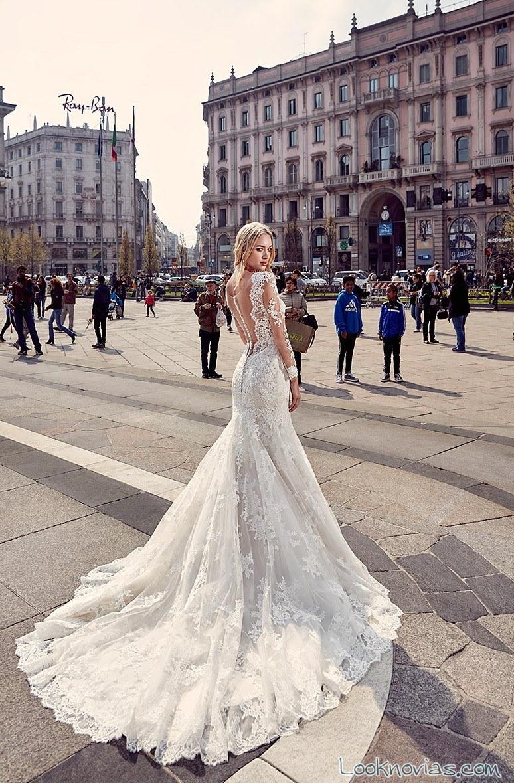 vestido de novias con escote espalda eddy k