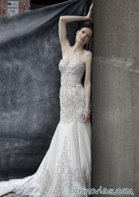 vestido de pedrería stephen yearick