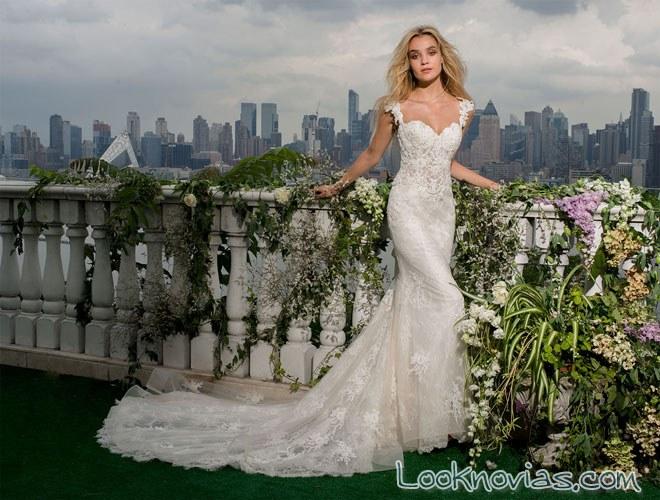 vestido de sirena para novias románticas