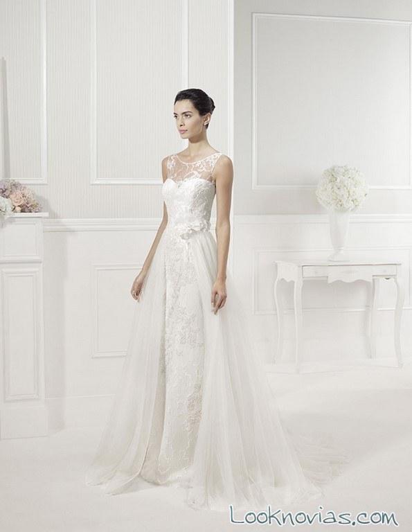 vestido de tirantes alma novia princess