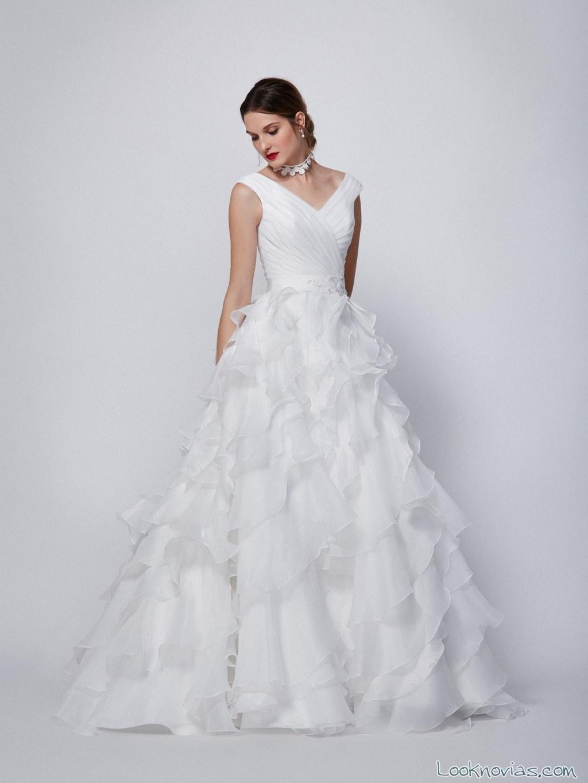 vestido de tirantes novias rebajas