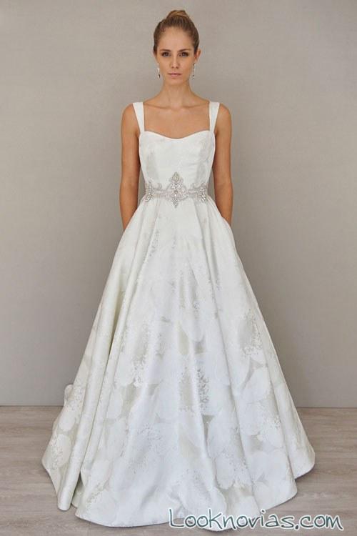 vestido de tirantes para novias alvina valenta