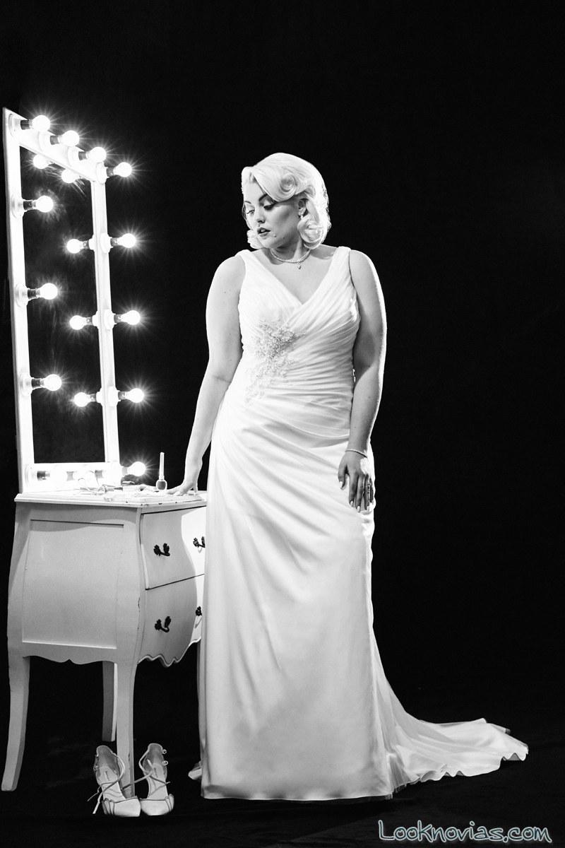 vestido de tirantes para novias con curvas