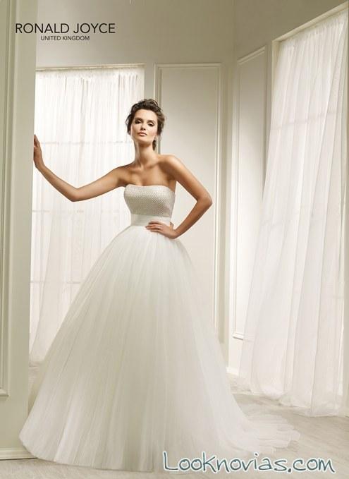 vestido de tul para novias princesa