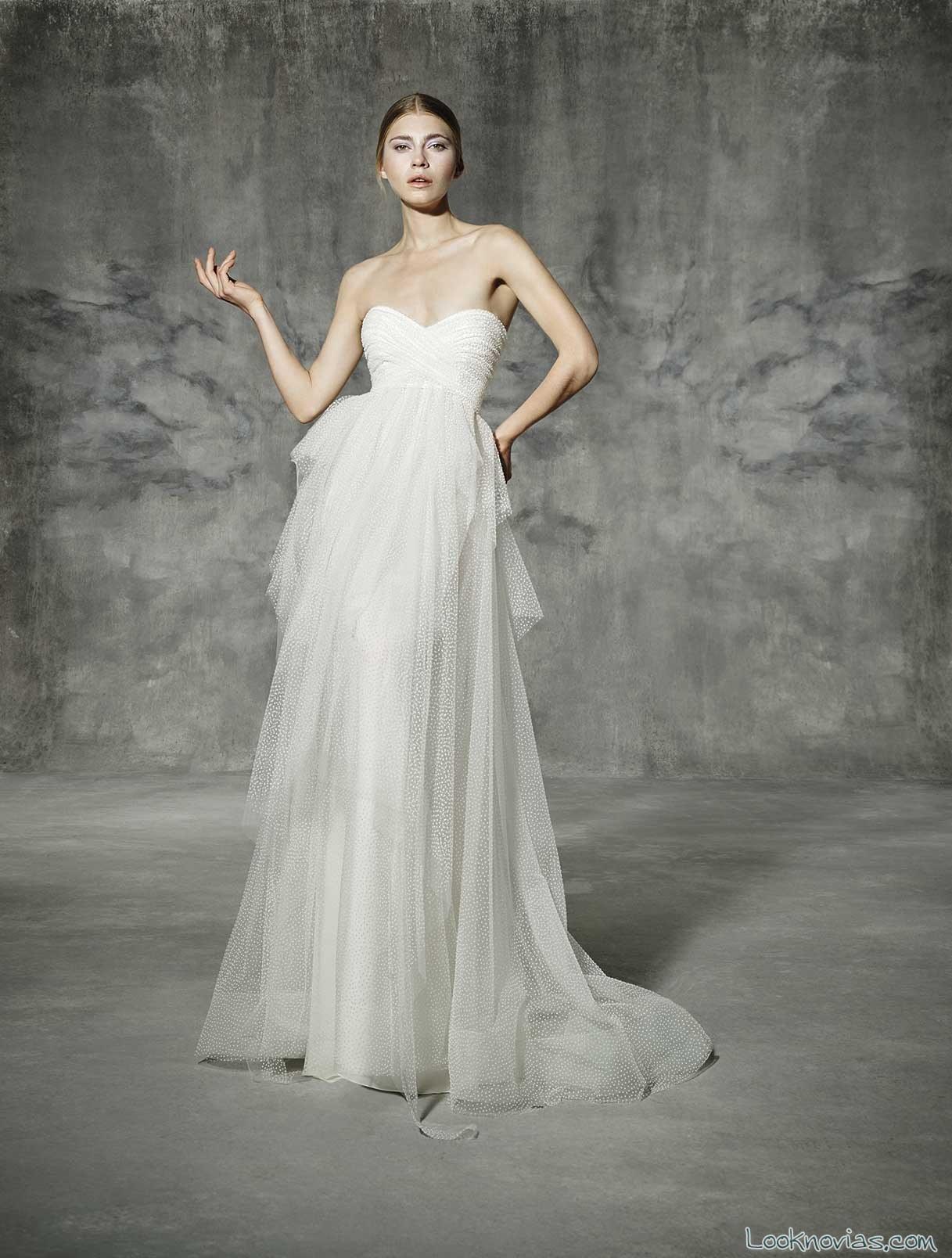 vestido de tul yolancris 2016