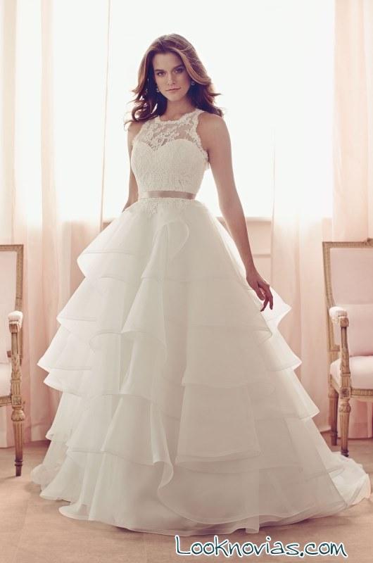 vestido de volantes paloma blanca