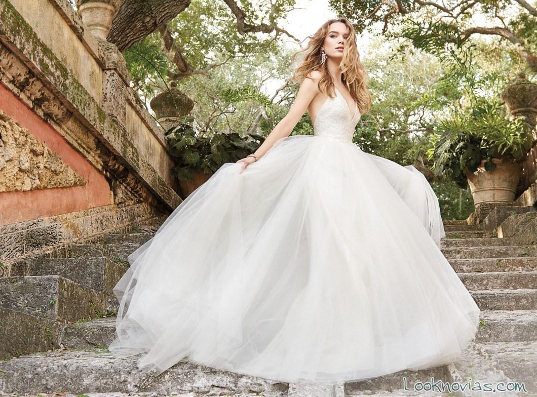 vestido de volumen para novias