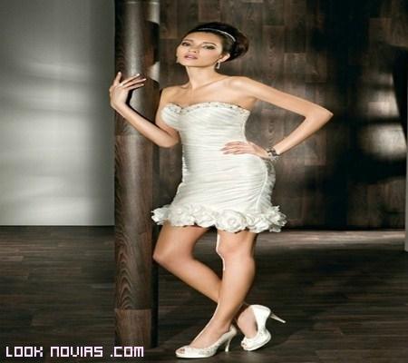 vestido ajustado novia desmontable