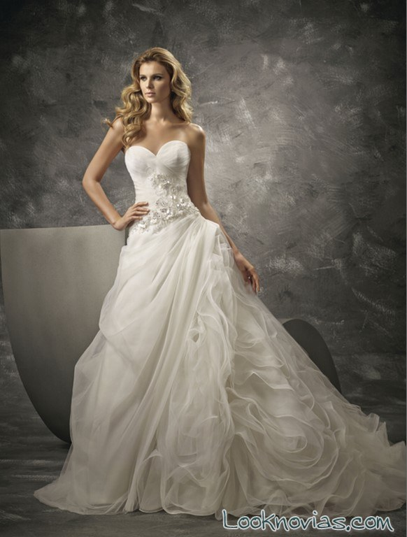 vestido divina sposa con falda original