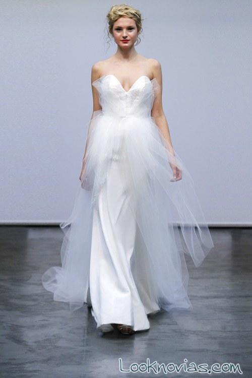 vestido doble falda de tul carol hannah
