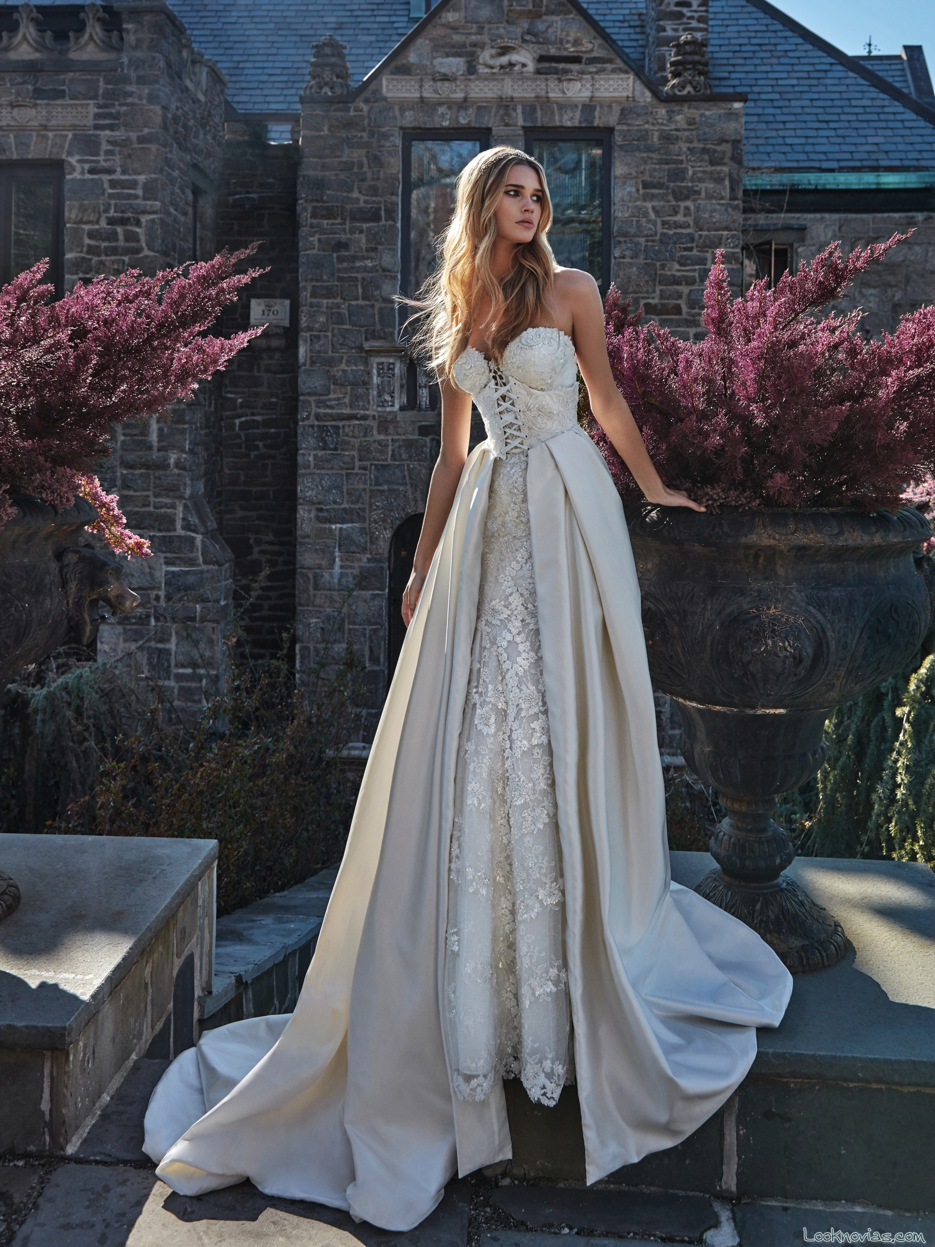 vestido doble falda novias galia lahav