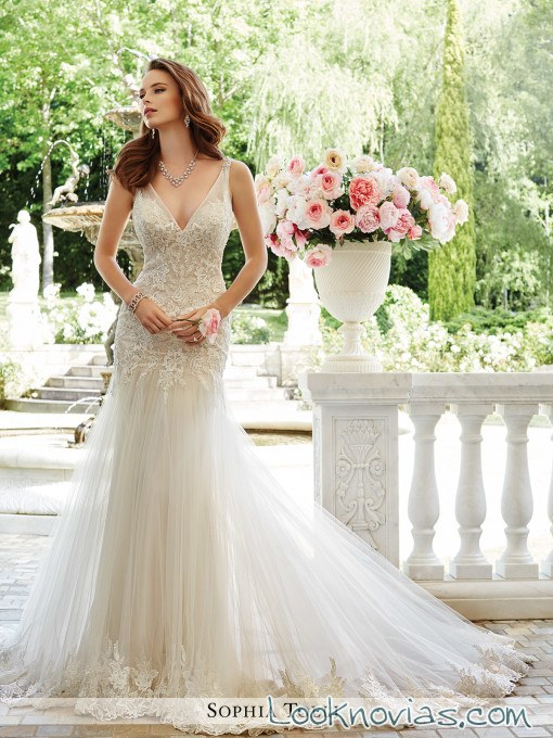 vestido doble falda sophia tolli