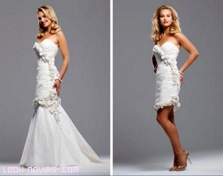 vestidos dos en uno para novias