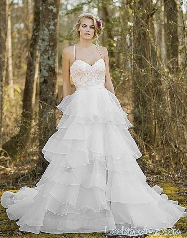 vestido dos piezas para novias
