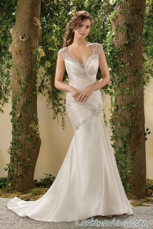 vestido drapeado con ligeros tirantes jasmine